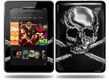 Chrome Skull on Black Decal Style Skin fits Amazon Kindle Fire HD 8.9 inch