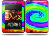 Rainbow Swirl Decal Style Skin fits Amazon Kindle Fire HD 8.9 inch