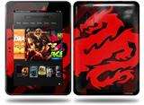 Oriental Dragon Red on Black Decal Style Skin fits Amazon Kindle Fire HD 8.9 inch