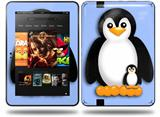 Penguins on Blue Decal Style Skin fits Amazon Kindle Fire HD 8.9 inch