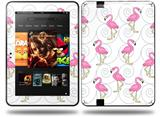 Flamingos on White Decal Style Skin fits Amazon Kindle Fire HD 8.9 inch