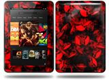 Skulls Confetti Red Decal Style Skin fits Amazon Kindle Fire HD 8.9 inch