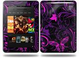 Twisted Garden Purple and Hot Pink Decal Style Skin fits Amazon Kindle Fire HD 8.9 inch