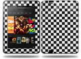 Checkered Canvas Black and White Decal Style Skin fits Amazon Kindle Fire HD 8.9 inch