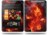 Fire Flower Decal Style Skin fits Amazon Kindle Fire HD 8.9 inch
