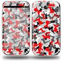 Sexy Girl Silhouette Camo Red - Decal Style Skin (fits Samsung Galaxy S III S3)