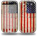 Painted Faded and Cracked USA American Flag - Decal Style Skin (fits Samsung Galaxy S III S3)