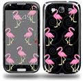 Flamingos on Black - Decal Style Skin (fits Samsung Galaxy S III S3)