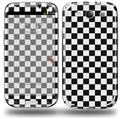 Checkered Canvas Black and White - Decal Style Skin (fits Samsung Galaxy S III S3)