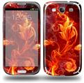 Fire Flower - Decal Style Skin (fits Samsung Galaxy S III S3)