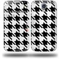 Houndstooth Black and White - Decal Style Skin (fits Samsung Galaxy S IV S4)