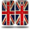 Painted Faded and Cracked Union Jack British Flag - Decal Style Skin (fits Samsung Galaxy S IV S4)