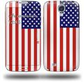 USA American Flag 01 - Decal Style Skin (fits Samsung Galaxy S IV S4)