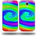 Rainbow Swirl - Decal Style Skin (fits Samsung Galaxy S IV S4)