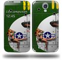 WWII Bomber War Plane Pin Up Girl - Decal Style Skin (fits Samsung Galaxy S IV S4)