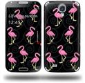 Flamingos on Black - Decal Style Skin (fits Samsung Galaxy S IV S4)