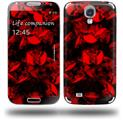 Skulls Confetti Red - Decal Style Skin (fits Samsung Galaxy S IV S4)