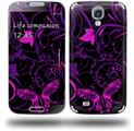 Twisted Garden Purple and Hot Pink - Decal Style Skin (fits Samsung Galaxy S IV S4)