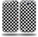 Checkered Canvas Black and White - Decal Style Skin (fits Samsung Galaxy S IV S4)