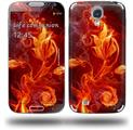 Fire Flower - Decal Style Skin (fits Samsung Galaxy S IV S4)