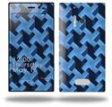 Retro Houndstooth Blue - Decal Style Skin (fits Nokia Lumia 928)