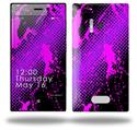 Halftone Splatter Hot Pink Purple - Decal Style Skin (fits Nokia Lumia 928)