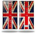 Painted Faded and Cracked Union Jack British Flag - Decal Style Skin (fits Nokia Lumia 928)