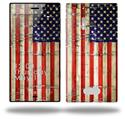 Painted Faded and Cracked USA American Flag - Decal Style Skin (fits Nokia Lumia 928)