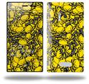 Scattered Skulls Yellow - Decal Style Skin (fits Nokia Lumia 928)