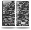 HEX Mesh Camo 01 Gray - Decal Style Skin (fits Nokia Lumia 928)