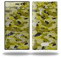 HEX Mesh Camo 01 Yellow - Decal Style Skin (fits Nokia Lumia 928)