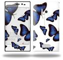 Butterflies Blue - Decal Style Skin (fits Nokia Lumia 928)