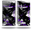 Abstract 02 Purple - Decal Style Skin (fits Nokia Lumia 928)