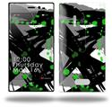 Abstract 02 Green - Decal Style Skin (fits Nokia Lumia 928)