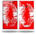 Big Kiss White Lips on Red - Decal Style Skin (fits Nokia Lumia 928)