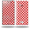 Checkered Canvas Red and White - Decal Style Skin (fits Nokia Lumia 928)