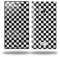 Checkered Canvas Black and White - Decal Style Skin (fits Nokia Lumia 928)