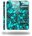 Scattered Skulls Neon Teal - Decal Style Vinyl Skin (compatible with Apple Original iPhone 5, NOT the iPhone 5C or 5S)