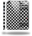 Checkered Canvas Black and White - Decal Style Vinyl Skin (compatible with Apple Original iPhone 5, NOT the iPhone 5C or 5S)