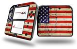 Painted Faded and Cracked USA American Flag - Decal Style Vinyl Skin fits Nintendo 2DS - 2DS NOT INCLUDED