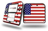 USA American Flag 01 - Decal Style Vinyl Skin fits Nintendo 2DS - 2DS NOT INCLUDED