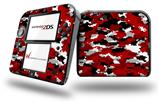 WraptorCamo Digital Camo Red - Decal Style Vinyl Skin fits Nintendo 2DS - 2DS NOT INCLUDED