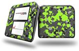 WraptorCamo Old School Camouflage Camo Lime Green - Decal Style Vinyl Skin fits Nintendo 2DS - 2DS NOT INCLUDED