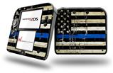 Painted Faded Cracked Blue Line Stripe USA American Flag - Decal Style Vinyl Skin fits Nintendo 2DS - 2DS NOT INCLUDED