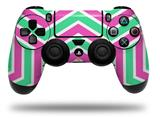 Vinyl Skin Wrap for Sony PS4 Dualshock Controller Zig Zag Teal Green and Pink (CONTROLLER NOT INCLUDED)