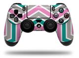 Vinyl Skin Wrap for Sony PS4 Dualshock Controller Zig Zag Teal Pink and Gray (CONTROLLER NOT INCLUDED)