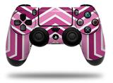 WraptorSkinz Skin compatible with Sony PS4 Dualshock Controller PlayStation 4 Original Slim and Pro Zig Zag Pinks (CONTROLLER NOT INCLUDED)