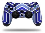 Vinyl Skin Wrap for Sony PS4 Dualshock Controller Zig Zag Blues (CONTROLLER NOT INCLUDED)