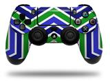 Skin Wrap for Sony PS4 Dualshock Controller Zig Zag Blue Green (CONTROLLER NOT INCLUDED)