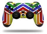 Vinyl Skin Wrap for Sony PS4 Dualshock Controller Zig Zag Rainbow (CONTROLLER NOT INCLUDED)